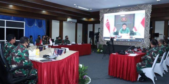 Hadapi Ragam Spektrum Tantangan saat ini & Masa Depan, Panglima TNI-Pangab Singapura Bahas Latihan dan Kerja Sama Militer